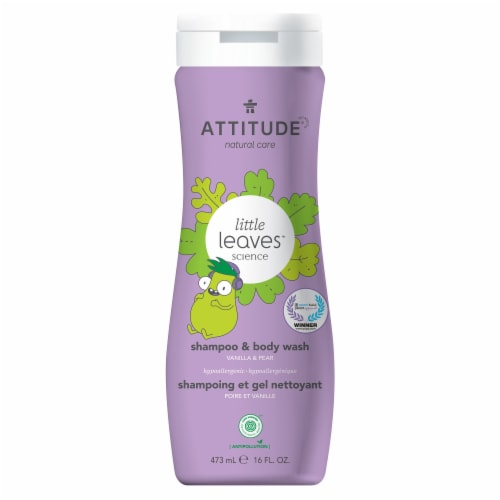Attitude Little Leaves Vanilla & Pear 2 in 1 Shampoo & Body Wash Perspective: front