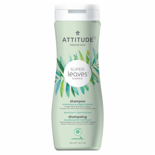 Attitudes Super Leaves Nourishing and Strengthening Shampoo Perspective: front