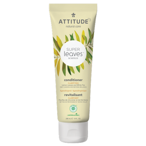 Attitude Super Leaves Lemon and White Tea Clarifying Conditioner Perspective: front