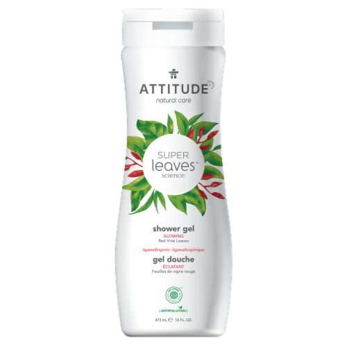 Attitude Super Leaves Red Vine Glowing Shower Gel Perspective: front