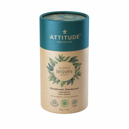 Attitude Natural CareSuper Leaves Unscented Deodorant Perspective: front