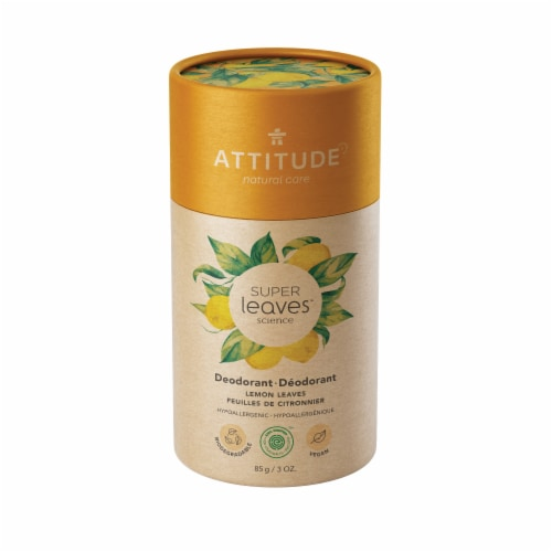 Attitude  Natural Care Super Leaves Lemon Leaves Deodorant Perspective: front