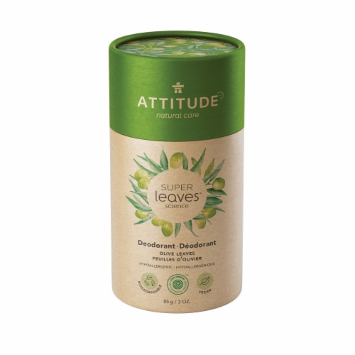 Attitude Super Leaves Olive Leaves Deodorant Perspective: front