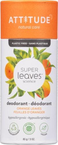 Attitude Super Leaves Science Orange Leaves Deodorant Perspective: front