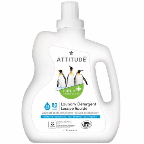 Attitude Wildflowers Laundry Detergent Perspective: front