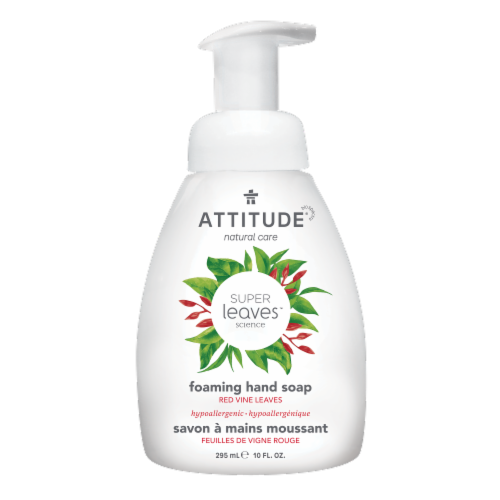 Attitude Super Leaves Red Vine Leaves Foaming Hand Soap Perspective: front