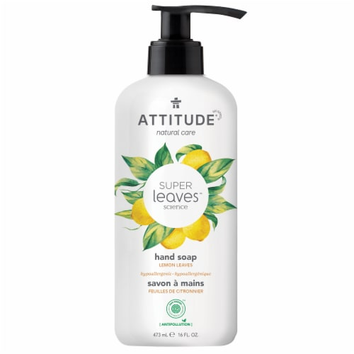 Attitude Super Leaves Lemon Leaves Hand Soap Perspective: front