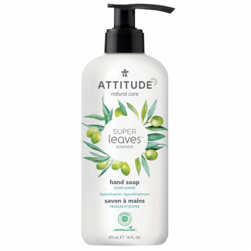 Attitude Super Leaves Olive Leaves Hand Soap Perspective: front