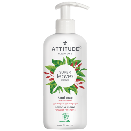 Attitude Super Leaves Red Vine Hand Soap Perspective: front