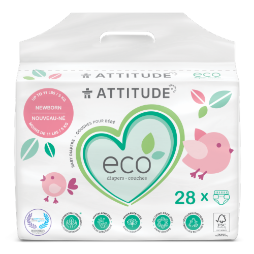 Attitude Newborn Baby Diapers Perspective: front