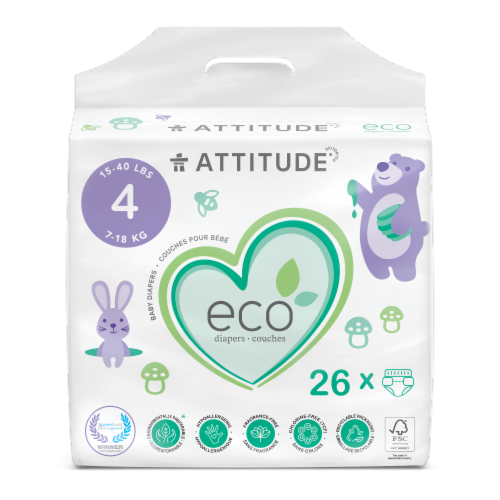Attitude Maxi Baby Diapers Perspective: front