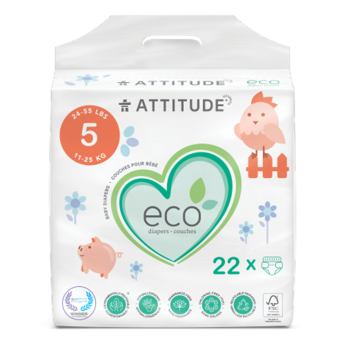 Attitude Junior Baby Diapers Perspective: front