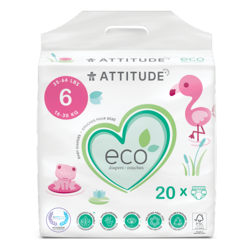 Attitude XL Baby Diapers Perspective: front