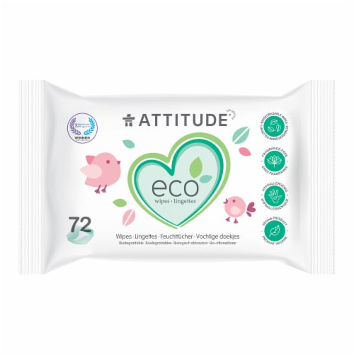 Attitude Eco Baby Wipes Perspective: front