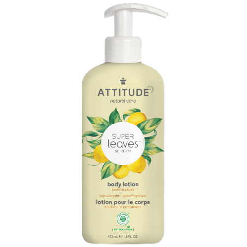 Attitude Super Leaves Lemon Regenerating Body Lotion Perspective: front