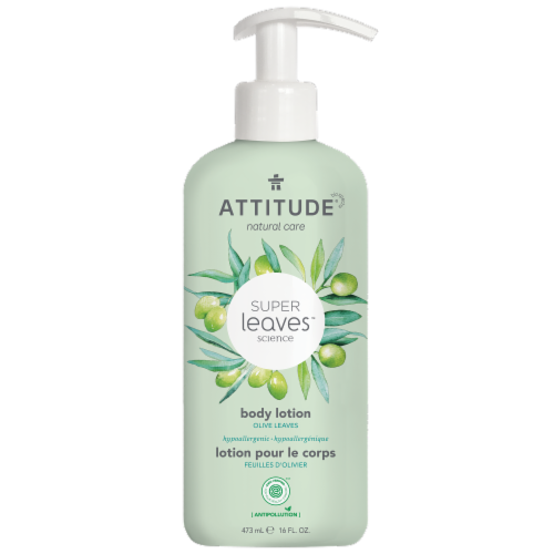Attitude Super Leaves Olive Nourishing Body Lotions Perspective: front