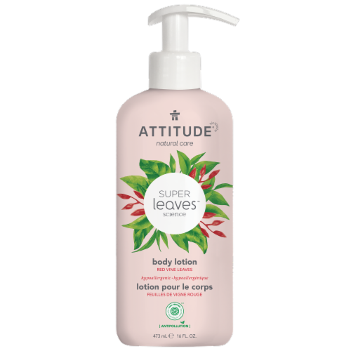 Attitude Super Leaves Red Vine Glowing Body Lotion Perspective: front