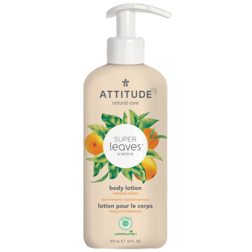 Attitude Super Leaves Orange Energizing Body Lotion Perspective: front