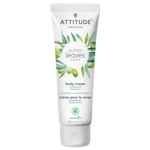 Attitude Super Leaves Olive Nourishing Body Cream Perspective: front