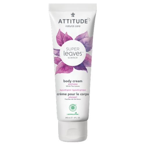 Attitude Super Leaves White Tea Soothing Body Cream Perspective: front