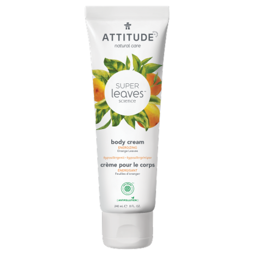Attitide Super Leaves Orange Energizing Body Cream Perspective: front