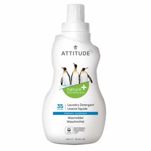 Attitude Wildflower Liquid Laundry Detergent Perspective: front