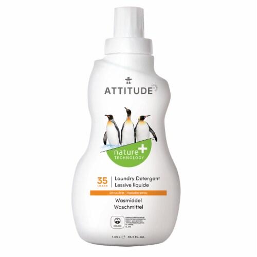 Attitude Citrus Zest Liquid Laundry Detergent Perspective: front