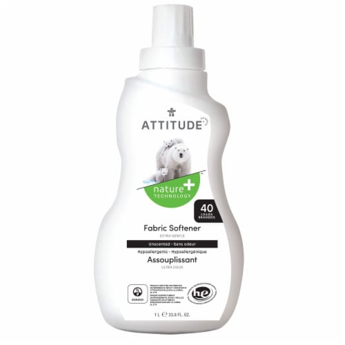 Attitude Unscented Fabric Softener Perspective: front