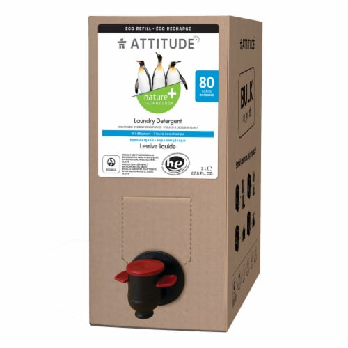 Attitude Wildflower Laundry Detergent Perspective: front