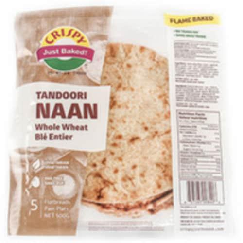 Crispy Tandoori Naan Whole Wheat (5 Pcs) - 500 Gm Perspective: front