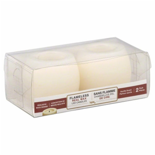 Northern International Mini Hurricane Votive Candle - Cream Perspective: front