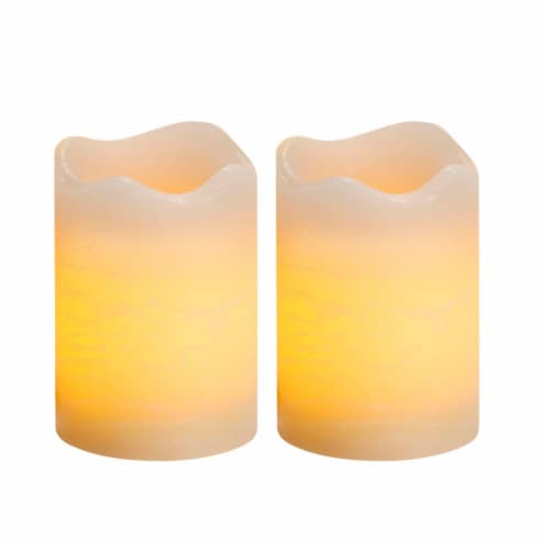 Northern International Rustic Votive Candle 2 Pack - Cream Perspective: front