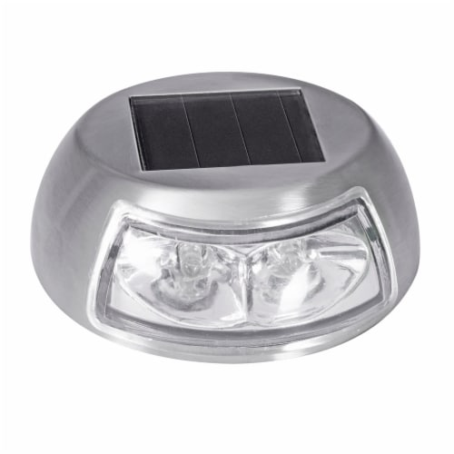 Sterno Home Stainless Steel Accent Solar LED Deck Light Perspective: front