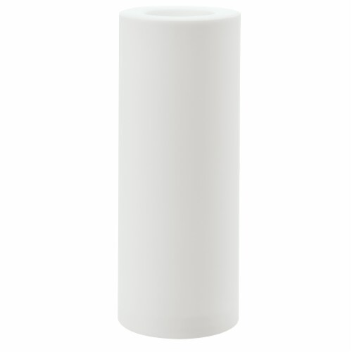 Sterno Home Flameless Outdoor Plastic Pillar Candle - White Perspective: front