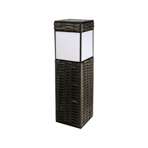 Paradise Lighting 8466583 3 watt Solar Powered LED Pathway Light, Matte Brown Perspective: front