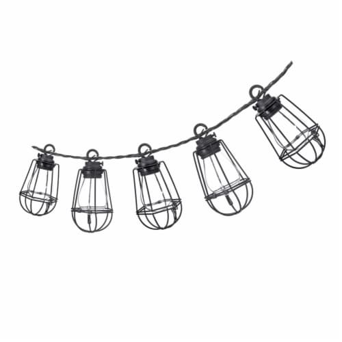 Sterno Home 10 Metal Caged String Lights Perspective: front