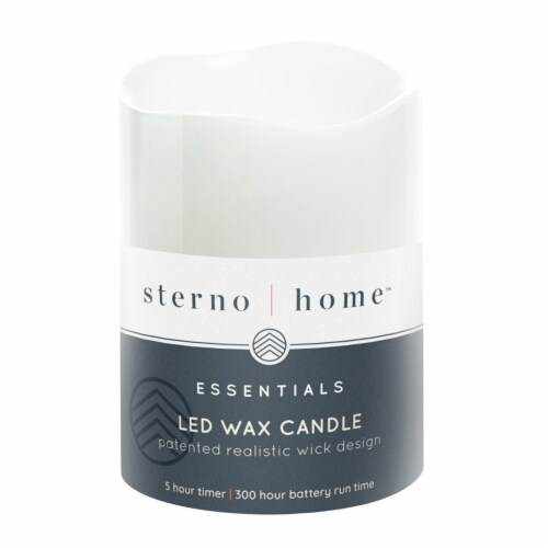 Sterno Home LED Wax Candle - White Perspective: front