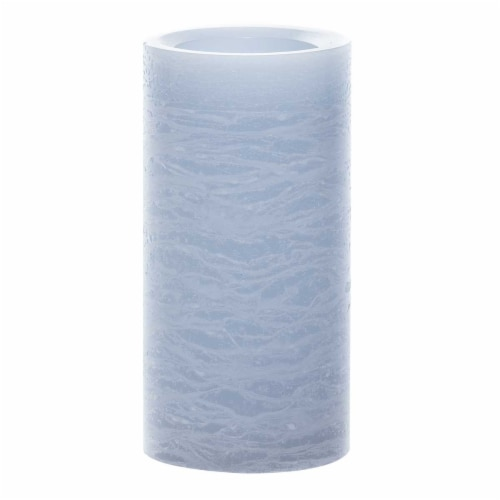 Sterno Home Frosted Pillar LED Candle - Blue Perspective: front