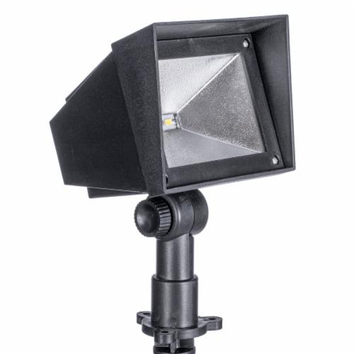 Sterno Home Squared Edge Solar Spot Light - Black Perspective: front