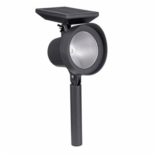 Sterno Home Solar Grooved Plastic Spotlights - Black Perspective: front