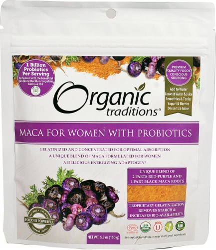 Organic Traditions Maca For Women with Probiotics Perspective: front