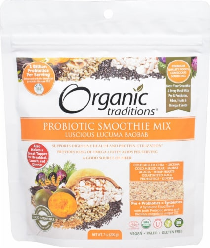 Organic Traditions Probiotic Lucuma Baobab Smoothie Mix Perspective: front