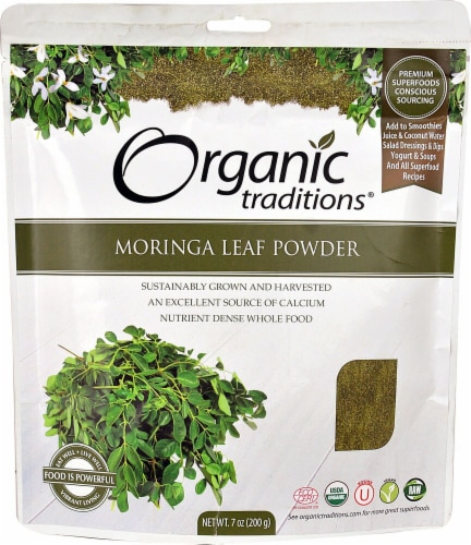 Organic Traditions  Moringa Leaf Powder Perspective: front