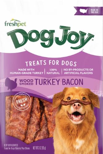 Freshpet Dog Joy Turkey Bacon Dog Treats Perspective: front