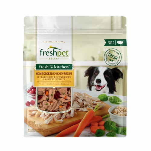 Freshpet Select Fresh from the Kitchen Home Cooked Chicken Recipe Dog Food Perspective: front