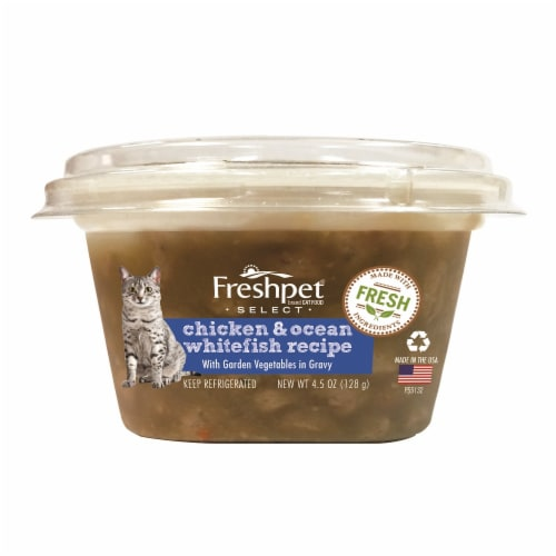 Freshpet Select Chicken & Ocean Whitefish Recipe Cat Food Perspective: front