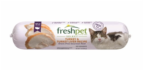 Freshpet Healthy & Natural Fresh Turkey Pate Wet Cat Food Perspective: front