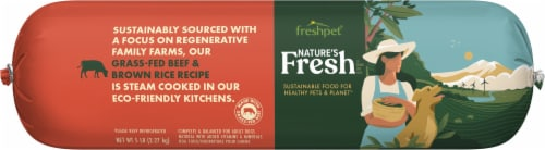 Freshpet Balanced Nutrition Beef Recipe Wet Dog Food Perspective: front