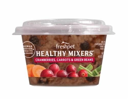 Freshpet Cranberries Carrots & Green Beans Healthy Mixers Wet Dog Food Perspective: front