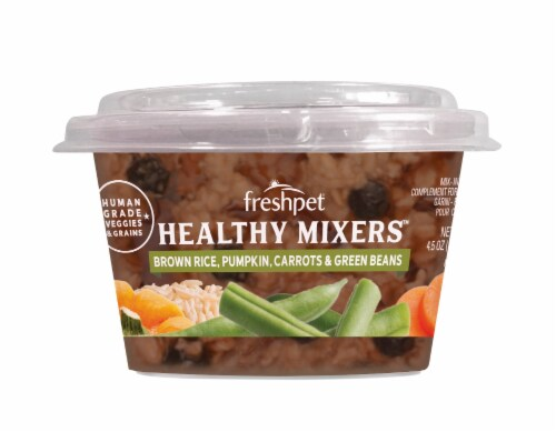Freshpet Brown Rice Pumpkin Carrots and Green Beans Healthy Mixers Wet Dog Food Perspective: front